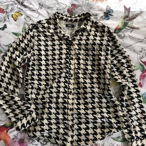 UO BDG Houndstooth print flannel button down.
